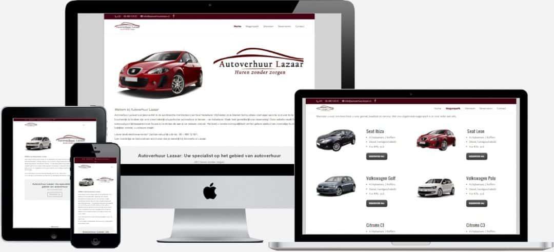 AutoverhuurLazaar.nl Webdesign