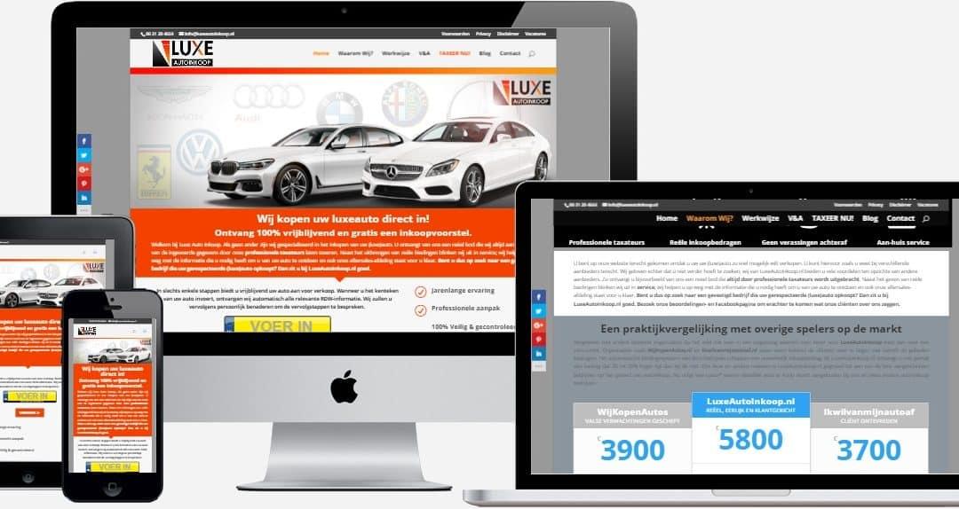 LuxeAutoInkoop.nl Webdesign