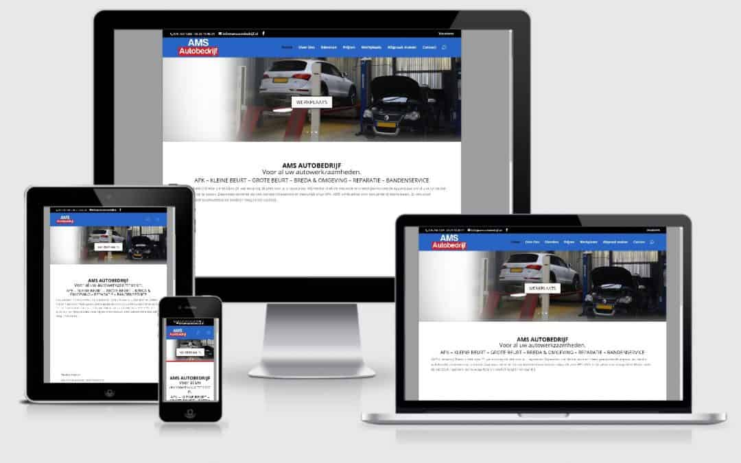 AMS Autobedrijf Webdesign